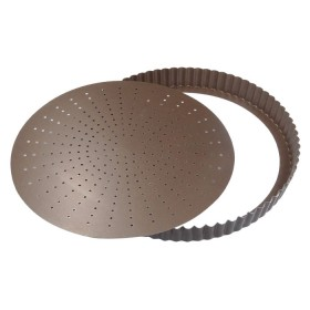 200mm non-stick round fluted tart mould perf / l / b