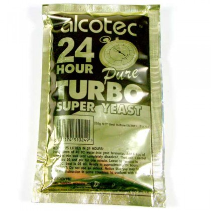 Alcotec 24 hour turbo yeast from dowricks.com