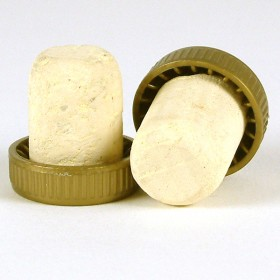 Plastic topped corks Gold bag of 1000