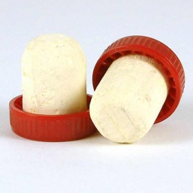 Plastic topped corks - Red bag of 100